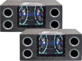 Dual 10 Inch Loaded Sub Enclosures by Pyramid Car Audio