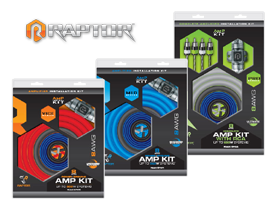 Raptor 8 Gauge Amplifier Install Kits