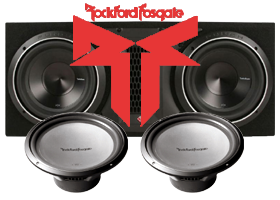 Rockford Fosgate Dual 10 Inch Subwoofer Packages