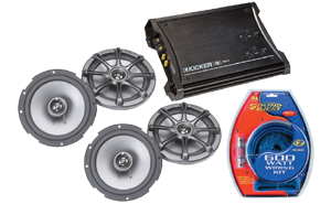 Kicker Amplifier and Speaker Combos