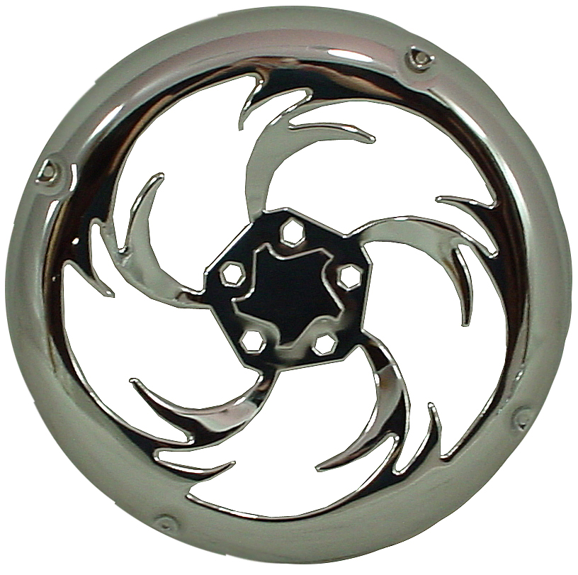 "Chrome Spin Twist Design 10"" Universal Metal Subwoofer Grill"