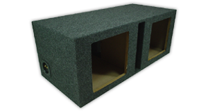Kicker Dual 12 inch Subwoofer Enclosures