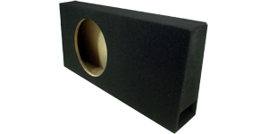 Single 10 Inch Subwoofer Box at HalfPriceCarAudio.com