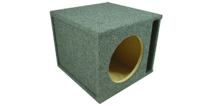 Single 8 Inch Subwoofer Box at HalfPriceCarAudio.com