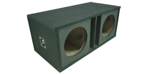 "Dual 12"" Vented Subwoofer Box"