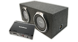 Powered Dual 10 inch Subwoofer Boxes