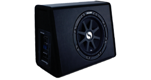 Single 12 Inch Amplified Sub Boxes at HalfPriceCarAudio.com