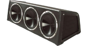 Triple 10 Inch Amplified Sub Boxes at HalfPriceCarAudio.com