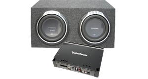 Powered Dual 12 inch Subwoofer Boxes