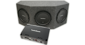 Powered Triple 10 inch Subwoofer Boxes
